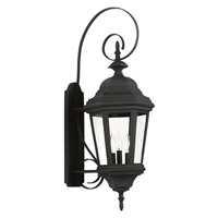 Estate 3 Light 11 inch Black Wall Lantern Wall Light