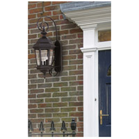 Kenroy Lighting 16314BL Estate 3 Light 11 inch Black Wall Lantern Wall Light alternative photo thumbnail