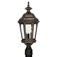 Kenroy Lighting Estate 3 Light Outdoor Post Lantern in Antique Patina   16316AP