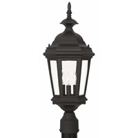 Kenroy Lighting Estate 3 Light Outdoor Post Lantern in Black   16316BL