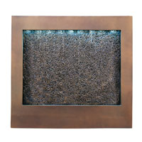 Kenroy Lighting Central Square 27 Light Wall Fountain in Bronze  with Textured Face  19998
