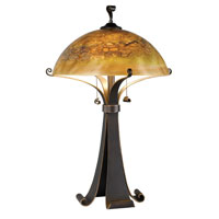 Santa Fe 28 inch 100 watt Chocolate Caramel Table Lamp Portable Light