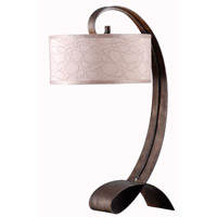 Remy 31 inch 150 watt Smoked Bronze Table Lamp Portable Light
