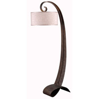 Remy 64 inch 150 watt Smoked Bronze Floor Lamp Portable Light