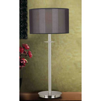 Kenroy Lighting Marlowe 1 Light Table Lamp in Brushed Steel   20114BS