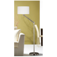 Kenroy Lighting 20123BS Hydra 63 inch 150 watt Brushed Steel Floor Lamp Portable Light in White, Adjustable alternative photo thumbnail