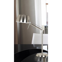 Kenroy Lighting 20124BS Radial 27 inch Brushed Steel Finish with Chrome Accents Table Lamp Portable Light