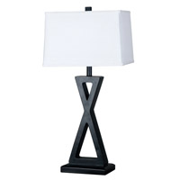 Kenroy Lighting Logan 1 Light Table Lamp in Oil Rubbed Bronze   20138ORB
