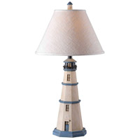 Kenroy Lighting Nantucket 1 Light Table Lamp in Antique White   20140AW