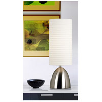 Kenroy Lighting Bandeau 1 Light Table Lamp in Brushed Steel 20200BS alternative photo thumbnail