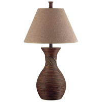 Kenroy Lighting Santiago 1 Light Table Lamp in Natural Reed   20390NR