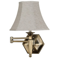 Mackinley 21 inch 75 watt Golden Bronze Wall Swing Arm Lamp Wall Light