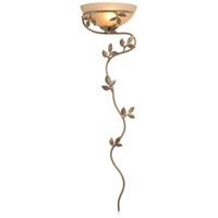 Flower Vine 22 inch Golden Bronze Wallchiere Wall Light