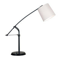Reeler 36 inch 100 watt Oil Rubbed Bronze Table Lamp Portable Light in Tan, Adjustable