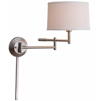 Kenroy Lighting Theta 1 Light Wall Swing Arm Lamp in Brushed Steel 20942BS