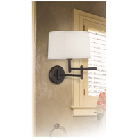 Kenroy Lighting 20942CB Theta 22 inch 150 watt Copper Bronze Wall Swing Arm Lamp Wall Light in Cream alternative photo thumbnail