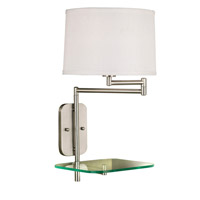 Kenroy Lighting Tabula 1 Light Swing Arm Wall Lamp in Brushed Steel   20947BS