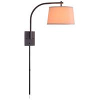 Sweep 23 inch 150 watt Oil Rubbed Bronze Wall Swing Arm Lamp Wall Light in Butterscotch