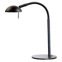 Kenroy Lighting Basis 1 Light Desk Lamp in Black   20971BL