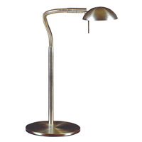 Basis 21 inch 50 watt Brushed Steel Desk Lamp Portable Light