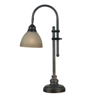 Kenroy Lighting 20994BH Callahan 8 inch 60 watt Bronze Heritage Desk Lamp Portable Light