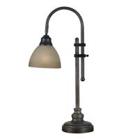 Kenroy Lighting 20994BH Callahan 8 inch 60 watt Bronze Heritage Desk Lamp Portable Light