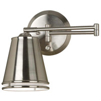 Kenroy Lighting Metro 1 Light Swing Arm Wall Lamp in Brushed Steel   21009BS
