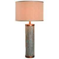 Kenroy Lighting Mattias 1 Light Table Lamp in Natural Slate with Copper  Accents  21036SL