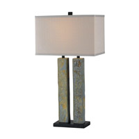 Kenroy Lighting 21039SL Barre 18 inch 150 watt Green Slate Table Lamp Portable Light