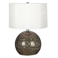 Kenroy Lighting Dalton 1 Light Table Lamp in Smoked Glass   21042SMG