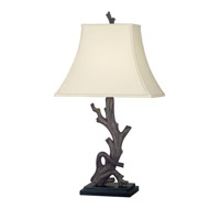 Drift 30 inch 100 watt Wood Grain Table Lamp Portable Light
