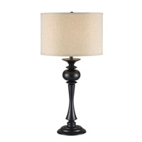 Kenroy Lighting Bishop 1 Light Table Lamp in Oil Rubbed Bronze   21060ORB