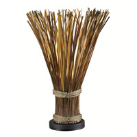 Kenroy Lighting Sheaf 1 Light Table Lamp in Natural Reed   21066NR