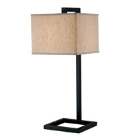 4 Square 30 inch 150 watt Oil Rubbed Bronze Table Lamp Portable Light in Tan
