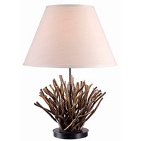 Kenroy Lighting Piper 1 Light Table Lamp in Natural Reed   21081NR