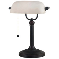 Amherst 15 inch 60 watt Oil Rubbed Bronze Banker Lamp Portable Light