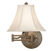 Kenroy Lighting Amherst 1 Light Swing Arm Wall Lamp in Nutmeg   21395NUT