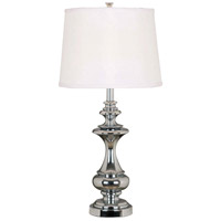 Stratton 29 inch 150 watt Chrome Table Lamp Portable Light in White