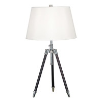 Kenroy Lighting Surveyor 1 Light Table Lamp in Oil Rubbed Bronze  with Chrome Accents  21520ORB photo thumbnail