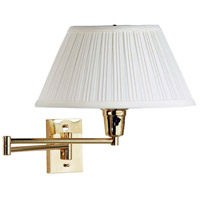 Element 26 inch 150 watt Polished Brass Wall Swing Arm Lamp Wall Light