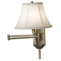Kenroy Lighting Traditional 1 Light Swing Arm Sconce in Antique Brass 30121AB-NCC