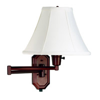 Kenroy Lighting Nathaniel 1 Light Swing Arm Wall Lamp in Bronze   30130BRZ