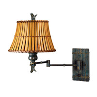 Kenroy Lighting Kwai 1 Light Swing Arm Wall Lamp in Bronze Heritage   30454BH photo thumbnail