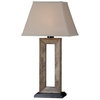 Kenroy Lighting Egress 1 Light Outdoor Table Lamp in Natural Slate   30515SL