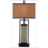 Kenroy Lighting Plateau 1 Light Table Lamp in Oil Rubbed Bronze   30740ORB