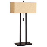 Emilio 29 inch 60 watt Bronze Table Lamp Portable Light in Tan