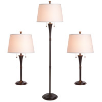 Kenroy Lighting Park Avenue 2 Light 3 Pack - 2 Table/1 Floor Lamps in Oil Rubbed Bronze   30843ORB