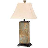 Kenroy Lighting 31202 Bennington 29 inch 100 watt Natural Slate Table Lamp Portable Light photo thumbnail