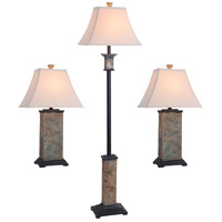 Kenroy Lighting Bennington 1 Light 3 Pack - 2 Table/1 Floor Lamps in Slate   31207