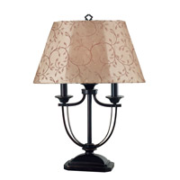 Kenroy Lighting 31365ORB Belmont 28 inch 60 watt Oil Rubbed Bronze Outdoor Table Lamp